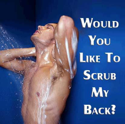 Would you like to scrub my back?