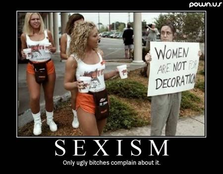 sexism - only ugly bitches complain about it