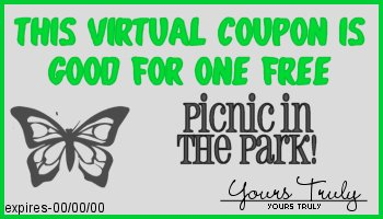 This virtual coupon entitles you to one free picnic in the park