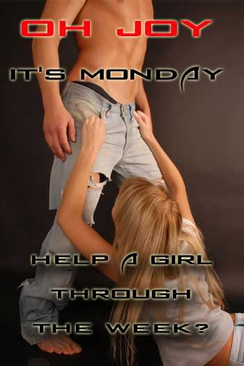 Oh Joy It's Monday Help a girl through the week?
