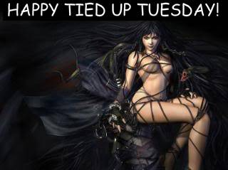 Happy tied up Tuesday